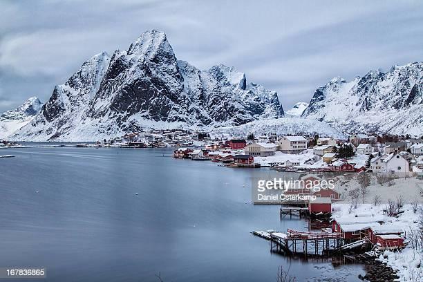 Fjord at City Reine, Lofoten, Norway