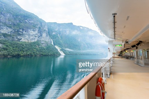 Fjord View on a Cruise Ship
