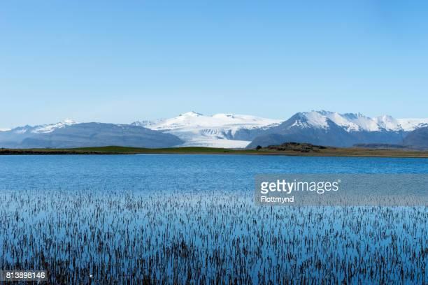 Flaajokull glacier is one of many glacier tongues flowing south from Vatnajokull glacier