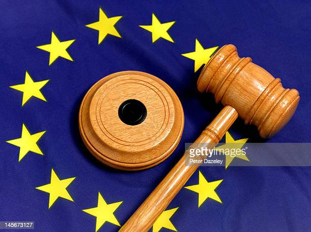 EU flag and gavel