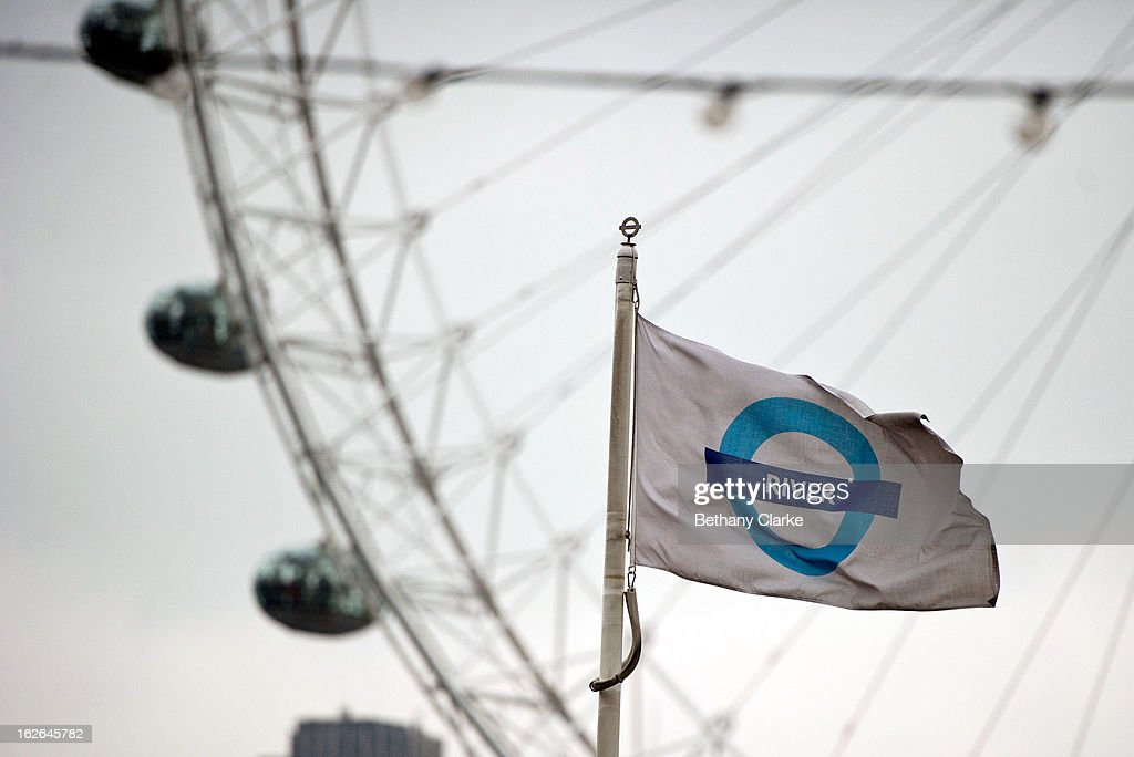 A flag at Westminster Milennium Pier on February 25, 2013 in London, England. A £10 million boost to double the number of commuters travelling on the Thames over the next seven years was announced by Transport for London today.