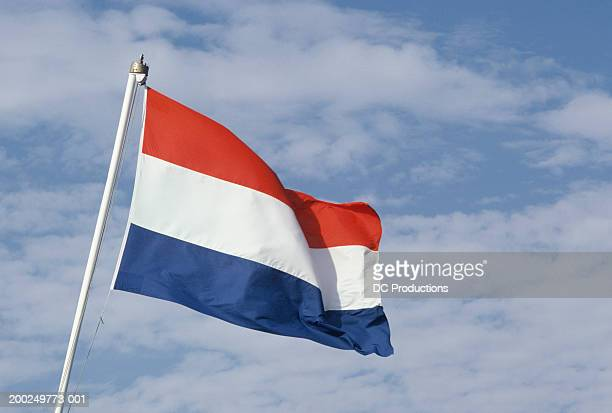 Flag flapping in wind, Holland