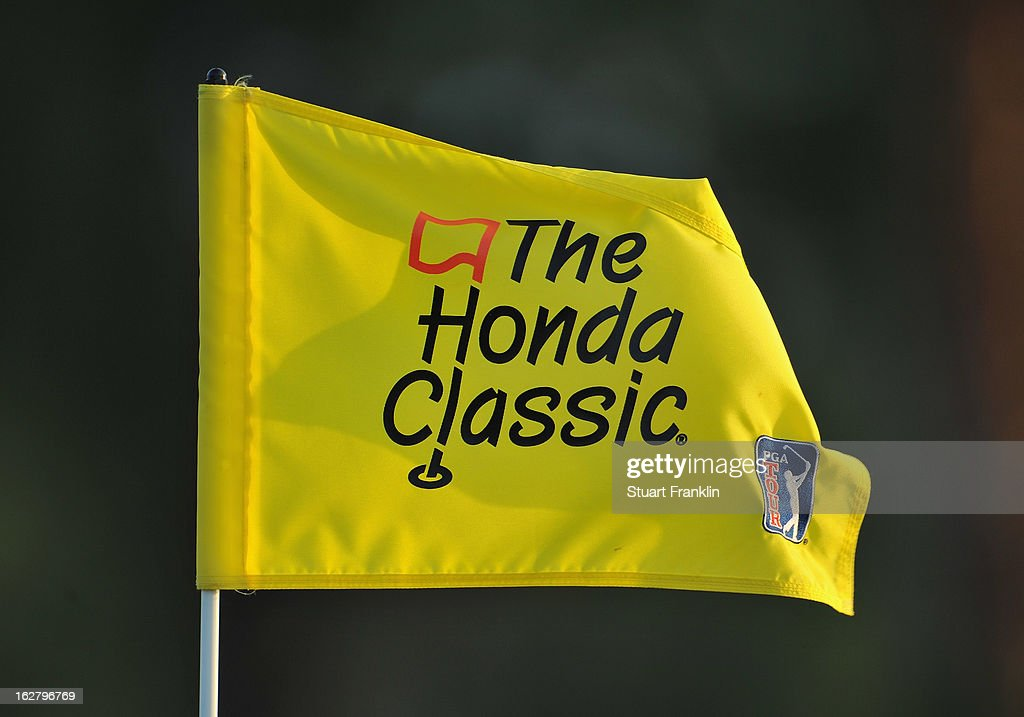 A flag flies during the pro am of the Honda Classic at PGA National on February 27, 2013 in Palm Beach Gardens, Florida.