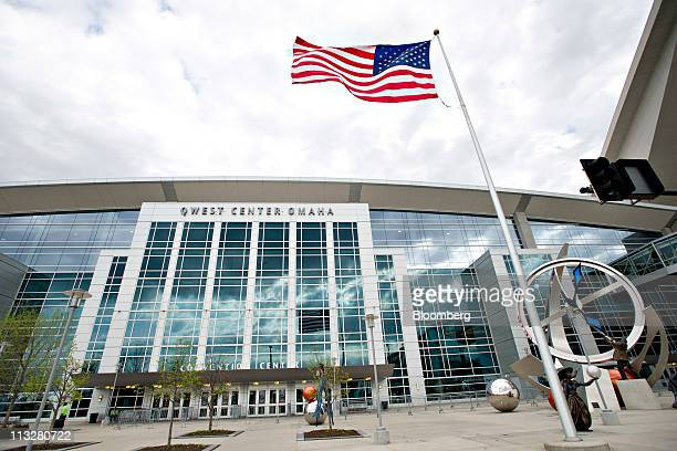A US flag flies outside the Qwest Center venue for tomorrow's 2011 Berkshire Hathaway Inc shareholders meeting in Omaha Nebraska US on Friday April...