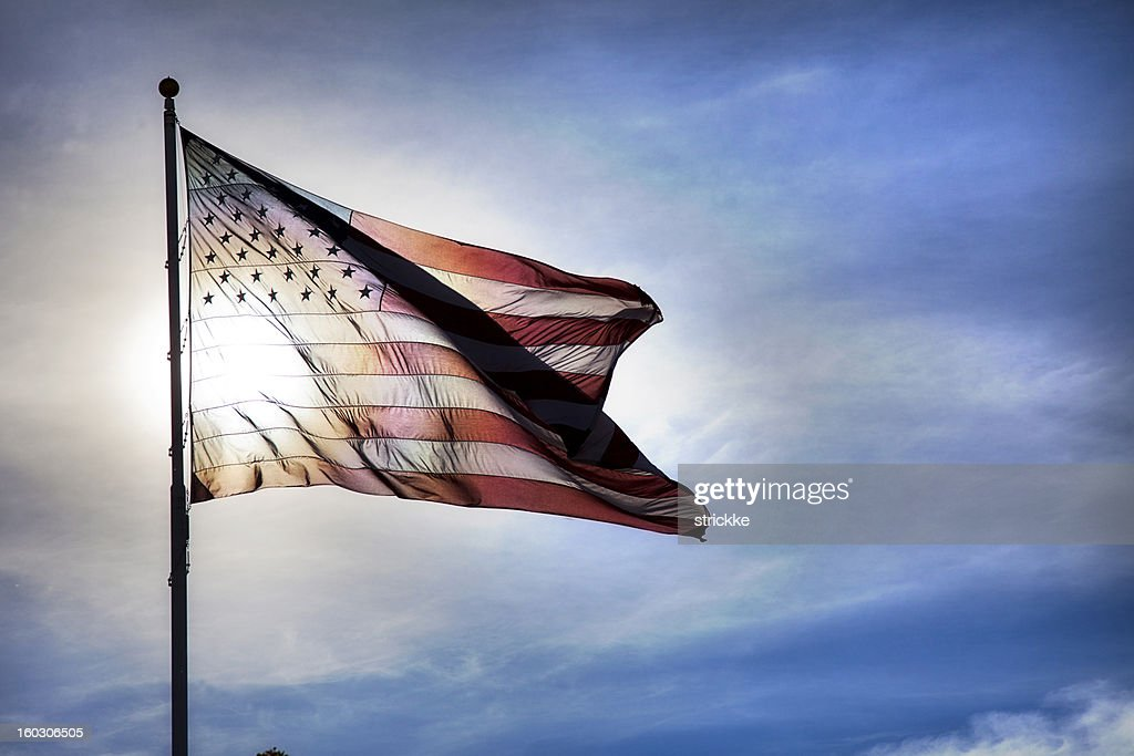 US Flag Symbolizing Transparency in Government : Stock Photo