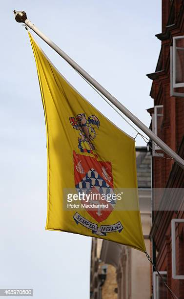 A flag is seen at Hill House School near Knightsbridge on March 12 2015 in London England The school once attended by Prince Charles Prince of Wales...