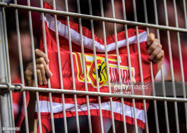flag of a fan of Union Berlin during the game between Union Berlin and the Queens Park Rangers on july 24 2017 in Berlin Germany