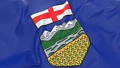 Top view of flag of Alberta