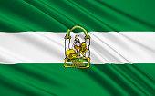 Flag of Andalusia is a south-western European region established as an autonomous community of the Kingdom of Spain. The territory is divided into eight provinces: Almeria, Cadiz, Cordoba, Granada, Hu