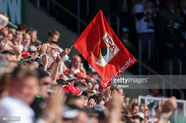 Flag of Augsburg during the Bundesliga match between FC Augsburg and Hamburger SV at WWK Arena on April 30 2017 in Augsburg Germany