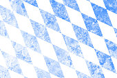 Flag of Bavaria with faded grunge effect and copy space, perfect for backgrounds and design.