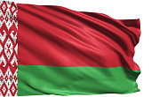 Belarusian flag with fabric structure