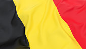 Top up view of a Belgian flag
