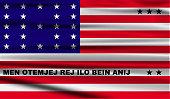 Flag of Bikini Atoll with old texture.  illustration