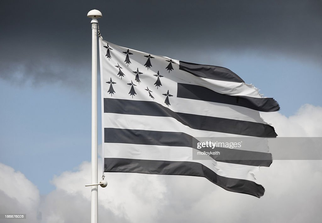 'Flag of Brittany, France'