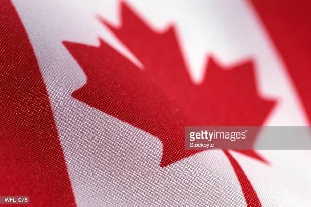 Flag of Canada, close-up