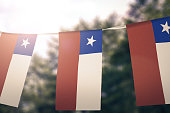 Flag of Chile hanging pennants