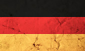 Flag of Germany with old dirty grunge texture