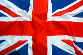 Flag of Great Britain as a background