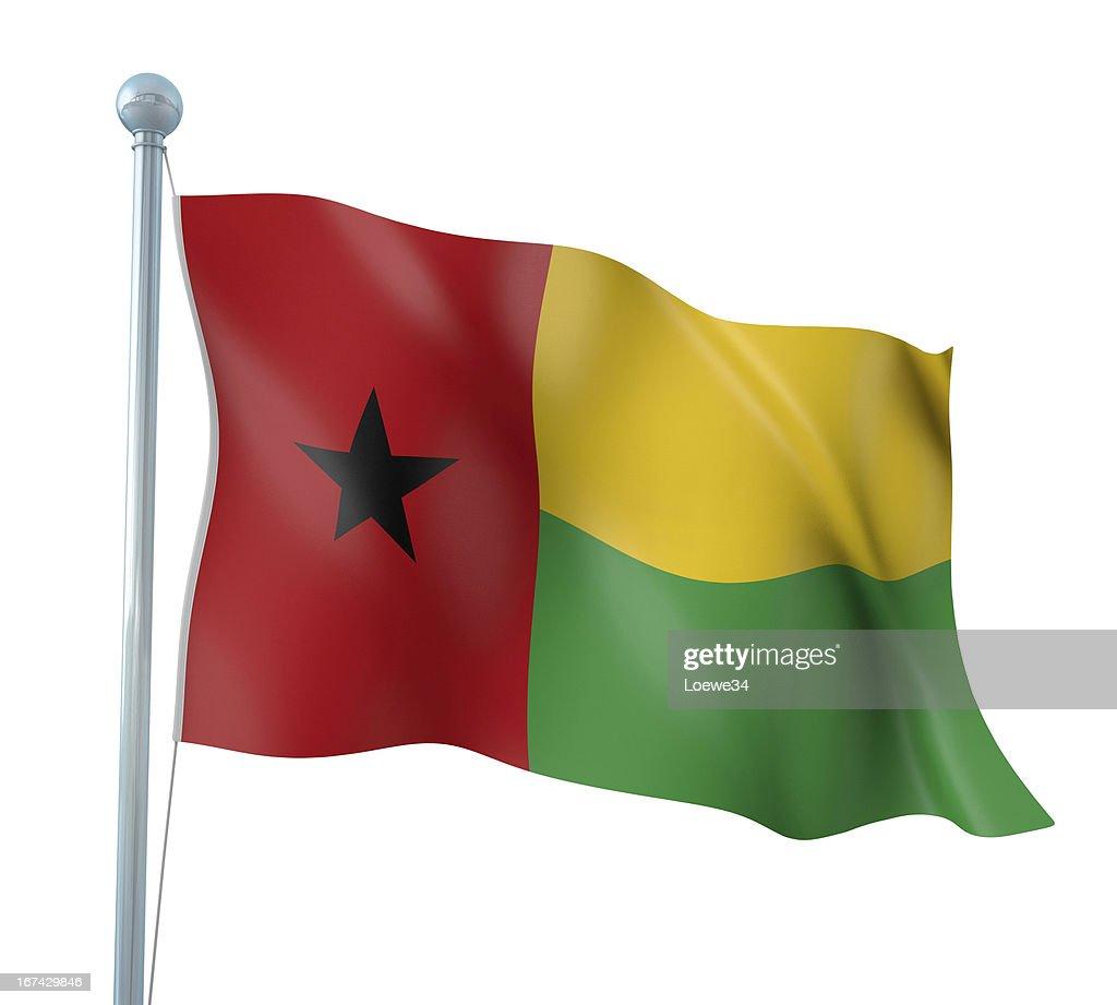 Bandeira da Guiné-Bissau : Foto de stock