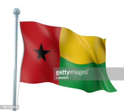 Flag of Guinea-Bissau : Stock Photo