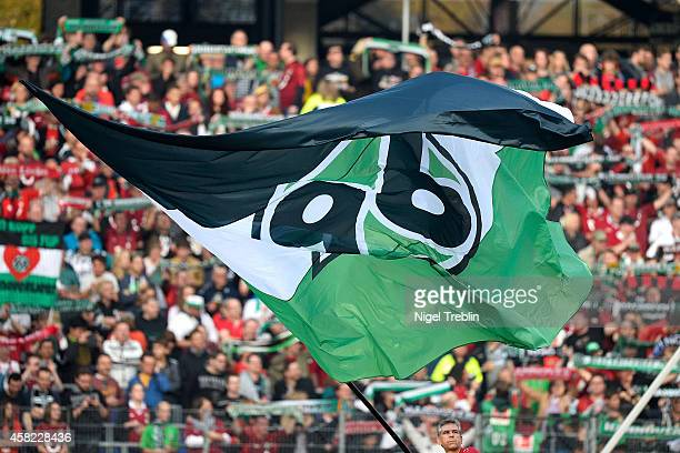 A flag of Hannover is pictured prior to the Bundesliga match between Hannover 96 and Eintracht Frankfurt at HDIArena on November 1 2014 in Hanover...