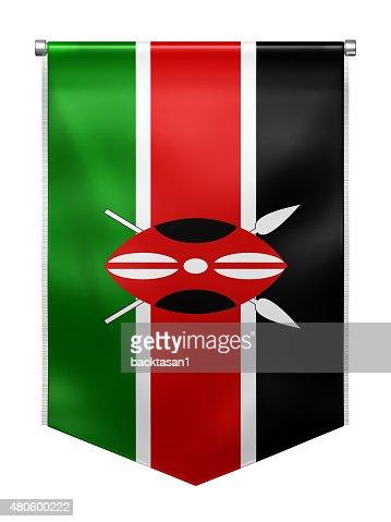 Flag of Kenya : Stock Photo
