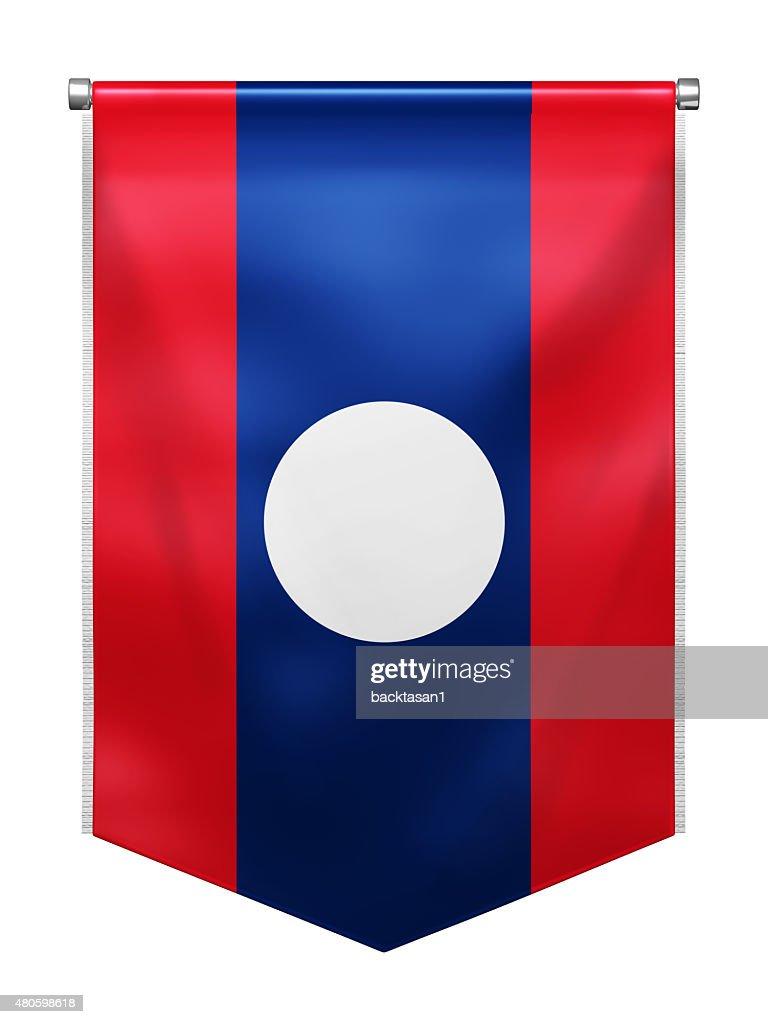 Flag of Laos : Stock Photo