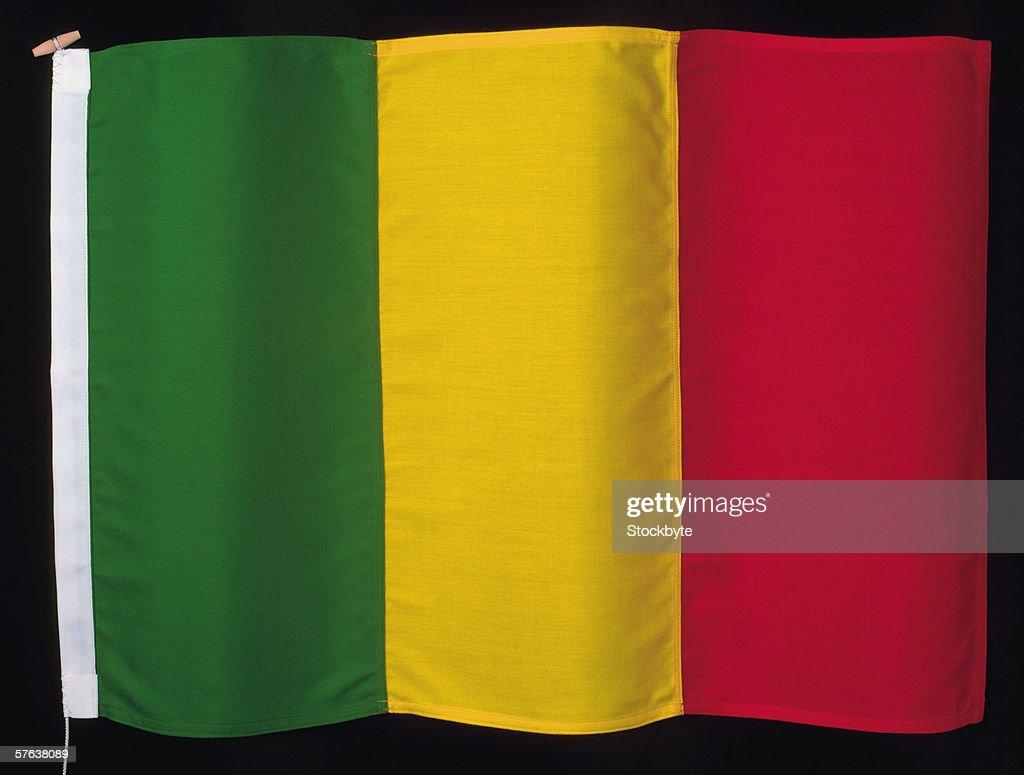 flag of Mali : Stock Photo