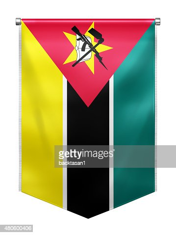 Flag of Mozambique : Stock Photo
