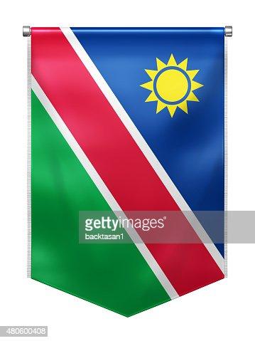 Flag of Namibia : Stock Photo