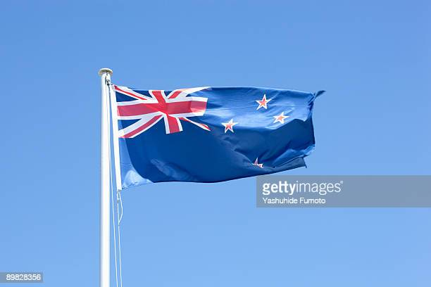 Flag of New Zealand is fluttering