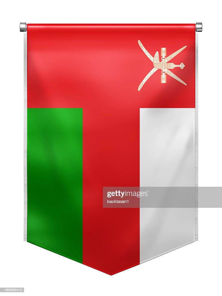 Flag of Oman : Stock Photo