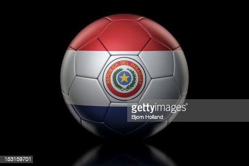 Flag of on Soccer Ball : Stock Photo