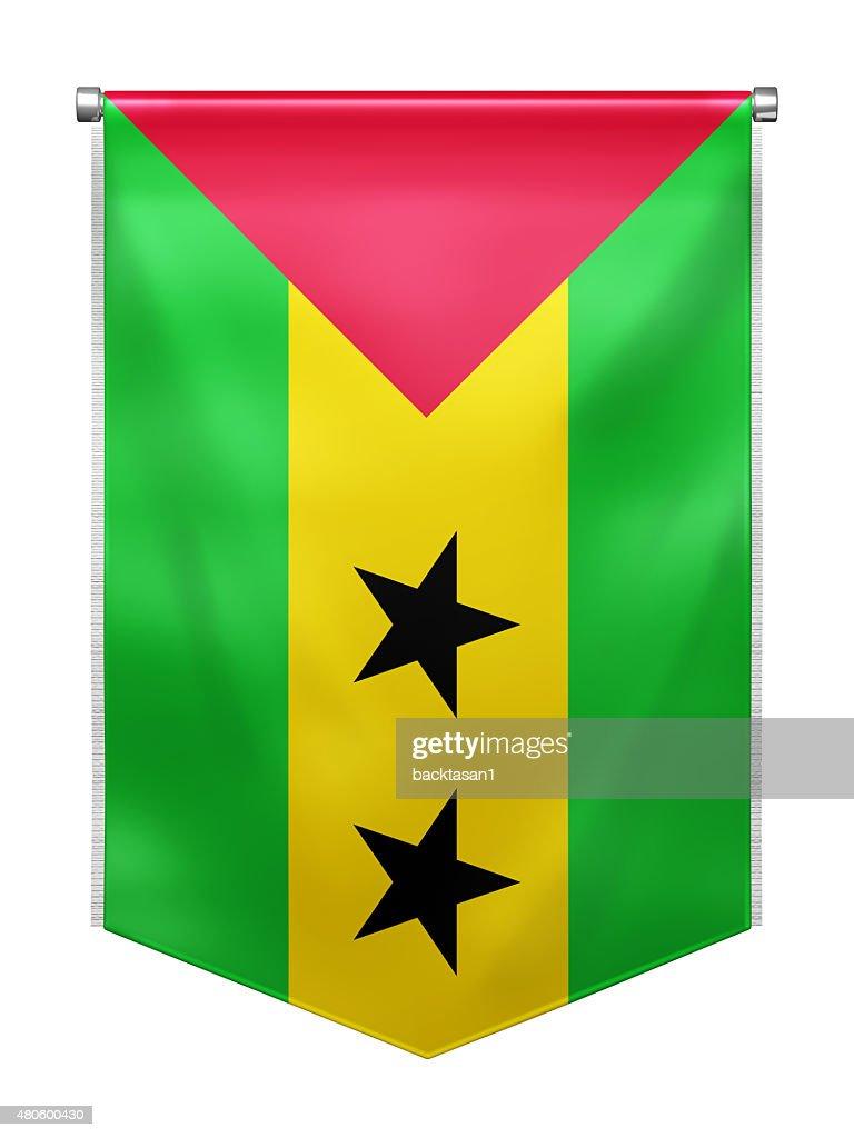 Flag of Sao_Tome and Principe : Stock Photo