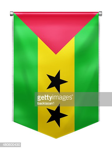 Flag of Sao_Tome and Principe : Stock Photo