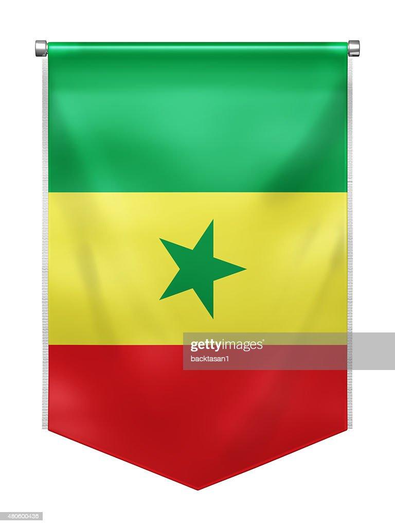Flag of Senegal : Stock Photo