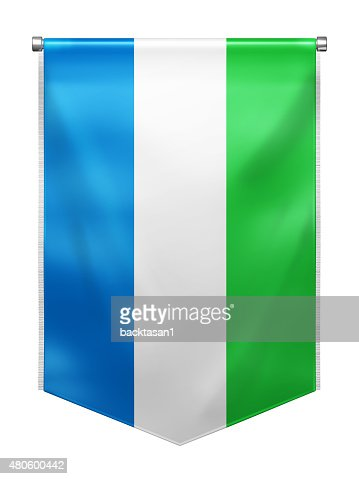 Flag of Sierra Leone : Stock Photo
