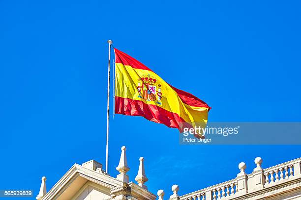 Flag of Spain on building roof, Spain