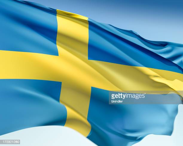 Flag of Sweden in blue and yellow