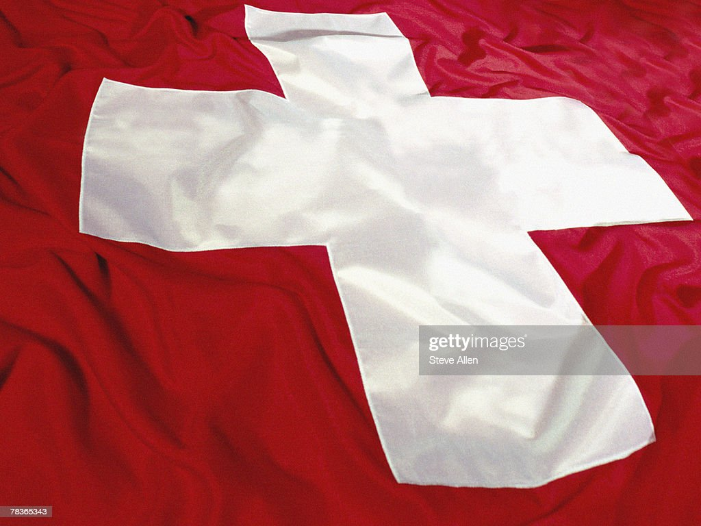Flag of Switzerland : Stock Photo