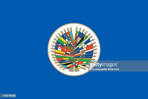 Flag Of The Organization Of American States An International Organization Made Up Of The Independent States Of The Americas