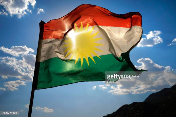 Flag of the Regional Government of Kurdistan which is becoming increasingly wellknown throughout the world The flag is made up of three horizontal...