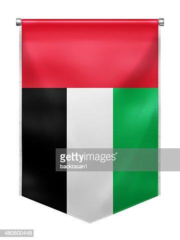 Flag of the United Arab Emirates : Stock Photo