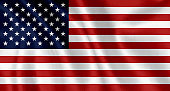 Flag of the United States waving background