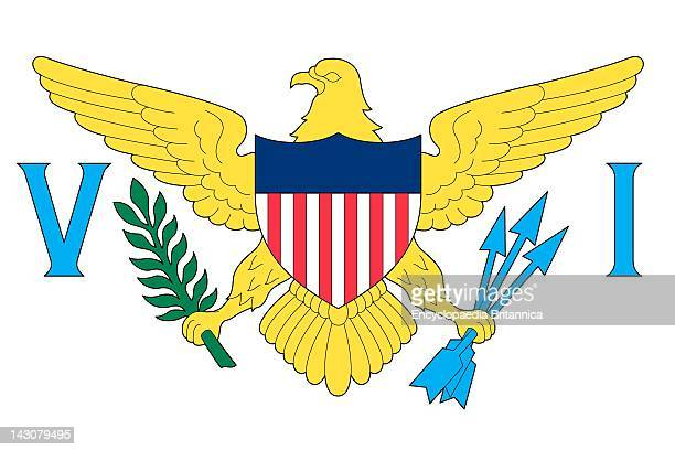 Flag Of The US Virgin Islands An Unincorporated Island Territory Of The United States Located In The Caribbean Sea