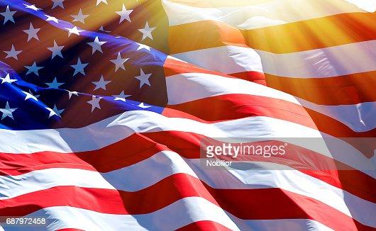 Flag of the USA : Stock Photo
