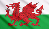 Welsh flag waving.