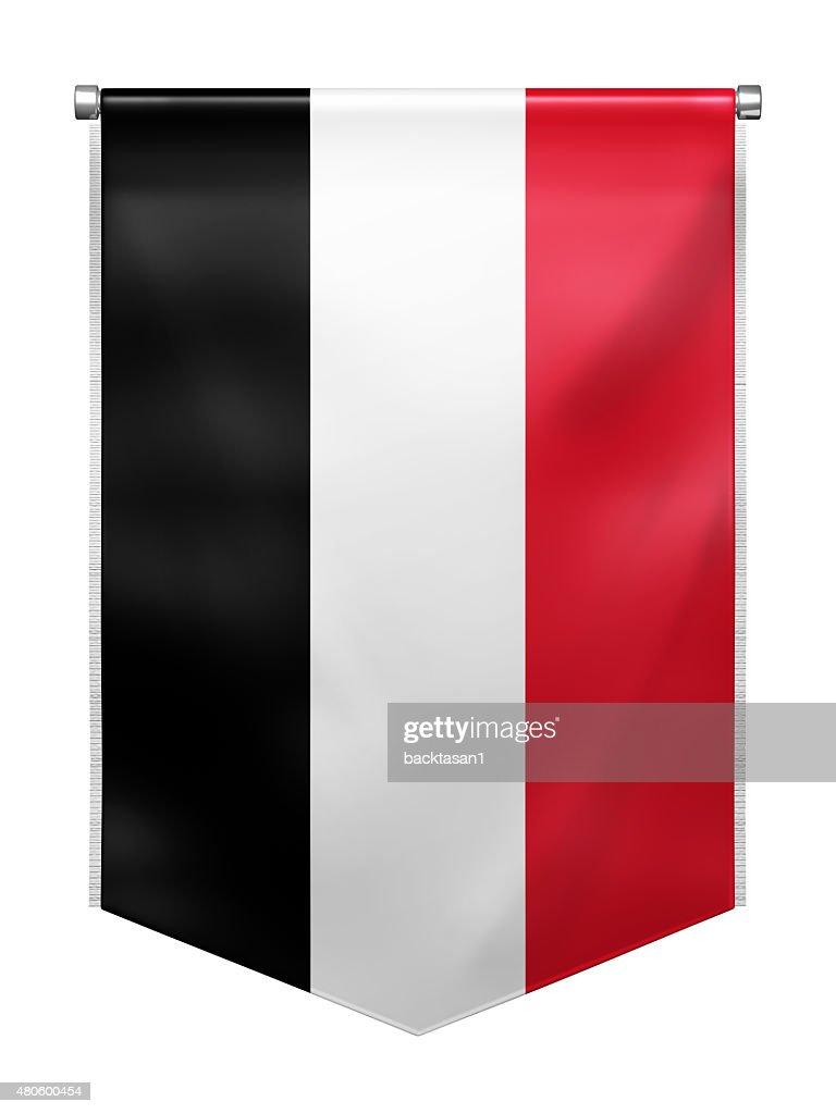 Flag of Yemen : Stock Photo