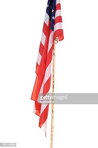 Flag On Old Pole